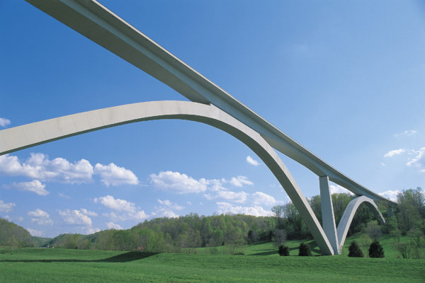 The Natchez Trace Parkway's 1,600-foot bridge spanning Highway 96 West is the first of its kind in North America. Its arches rise gracefully 150 feet in the air. The Natchez Trace Parkway's 1,600-foot bridge spanning Highway 96 West is the first of its kind in North America. Its arches rise gracefully 150 feet in the air. The Natchez Trace Parkway's 1,600-foot bridge spanning Highway 96 West is the first of its kind in North America. Its arches rise gracefully 150 feet in the air.